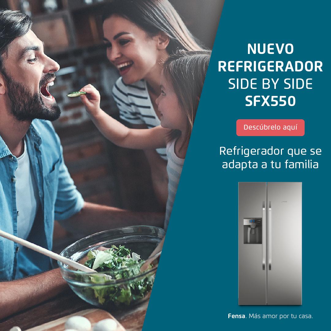 Nuevo refrigerador Side By Side SFX550